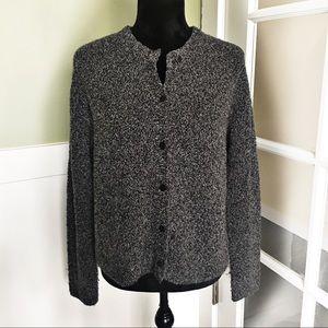 Eileen Fisher Merino Wool Cardigan Sweater
